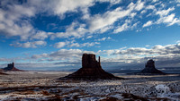 Monument Valley Snow